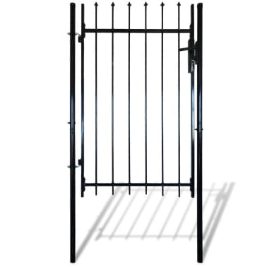 """Single Door Fence Gate with Spear Top 39""""W x 67""""H[1/6]"""