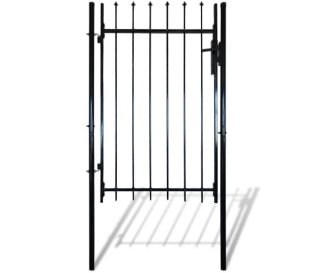"""Single Door Fence Gate with Spear Top 39""""W x 67""""H[3/6]"""