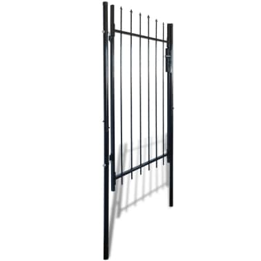 """Single Door Fence Gate with Spear Top 39""""W x 67""""H[2/6]"""