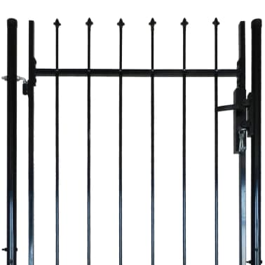 """Single Door Fence Gate with Spear Top 39""""W x 67""""H[4/6]"""
