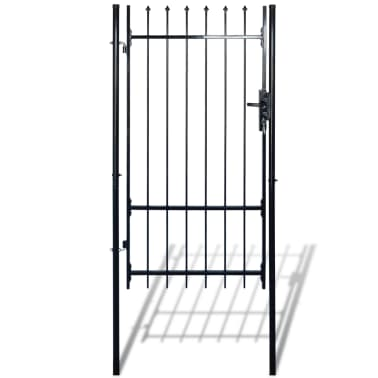 "Fence Gate with Spear Top (single) 39""W x 98""H[1/6]"
