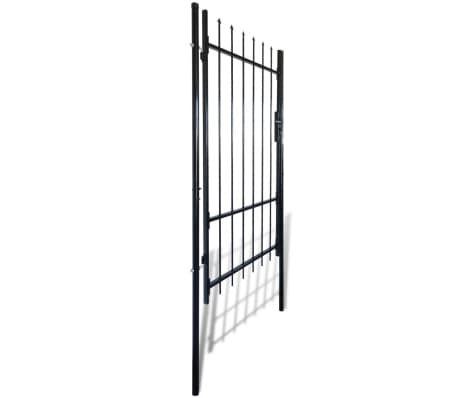 "Fence Gate with Spear Top (single) 39""W x 98""H[2/6]"