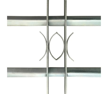 Justerbart Fönstergaller för fönster med 2 stänger 500-650 mm[3/4]
