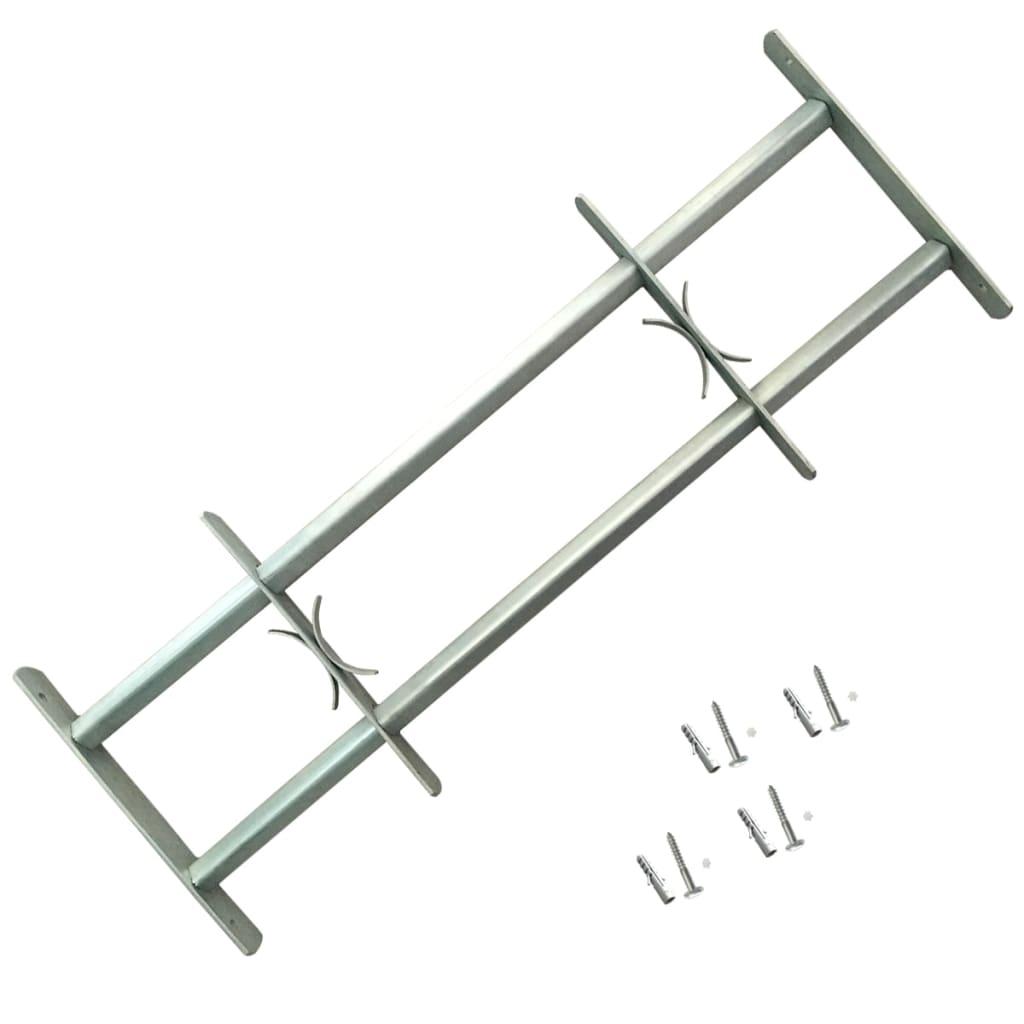 Nastavitelná bezpečnostní okenní mříž se 2 příčlemi 700–1050 mm