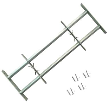 Reguliuojamos Apsauginės Langų Grotos su 2 Skersiniais 700-1050 mm[1/4]