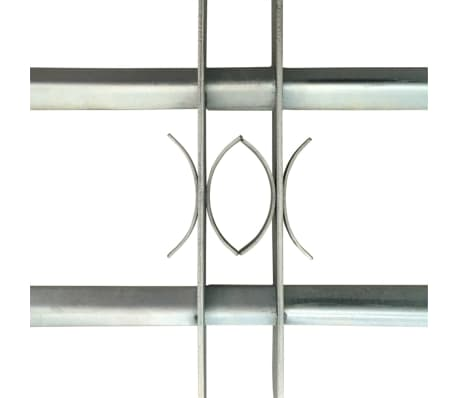 Reguliuojamos Apsauginės Langų Grotos su 2 Skersiniais 700-1050 mm[3/4]