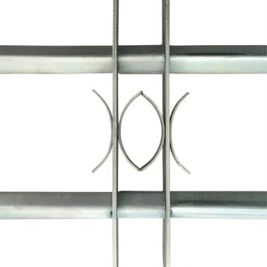 vidaXL Justerbart fönstergaller med 2 stänger 1000-1500 mm[3/4]