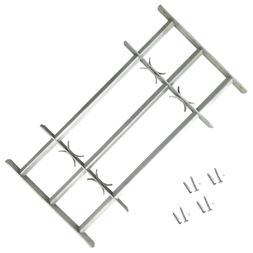 Nastavitelná bezpečnostní okenní mříž se 3 příčlemi 500–650 mm