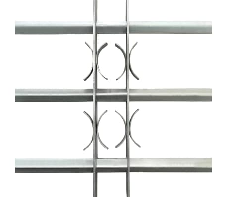 Justerbart Fönstergaller för fönster med 3 stänger 500-650 mm[3/4]