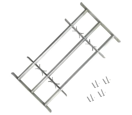 vidaXL Adjustable Security Grille for Windows with 3 Crossbars 700-1050mm