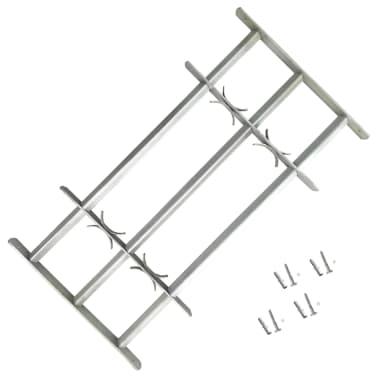 vidaXL Fönstergaller med 3 stänger 700-1050 mm justerbart[1/4]