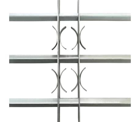 vidaXL Fönstergaller med 3 stänger 700-1050 mm justerbart[3/4]