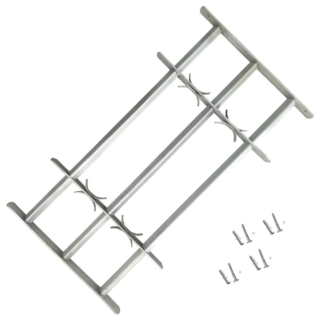 Nastavitelná bezpečnostní okenní mříž se 3 příčlemi 1000–1500 mm