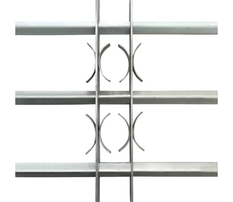 vidaXL Reja de seguridad ajustable ventana con 3 barras 1000-1500mm[3/4]