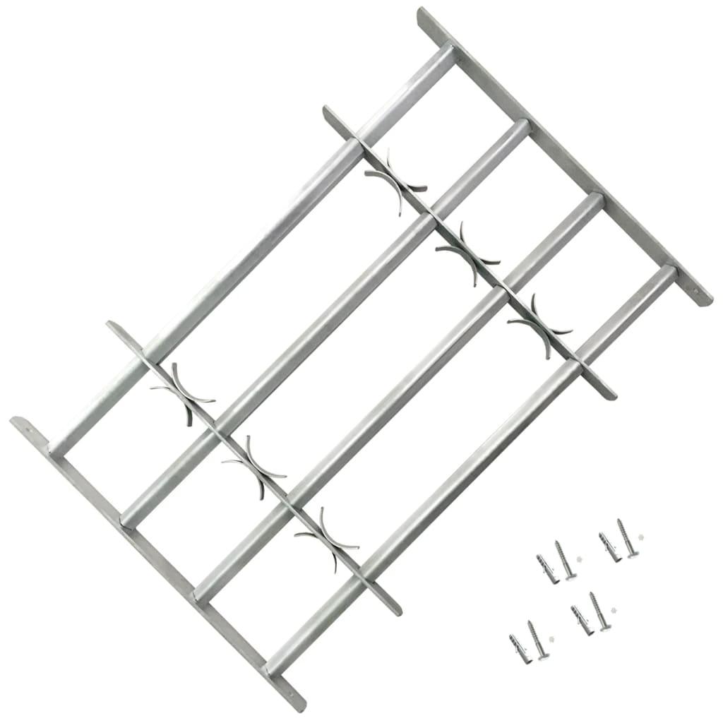 Nastavitelná bezpečnostní okenní mříž se 4 příčlemi 700–1050 mm