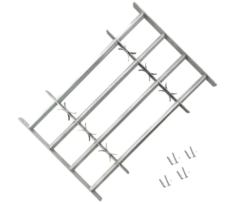 vidaXL Adjustable Security Grille for Windows with 4 Crossbars 700-1050mm