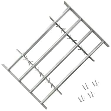 Reguliuojamos Apsauginės Langų Grotos su 4 Skersiniais 700-1050 mm[1/4]