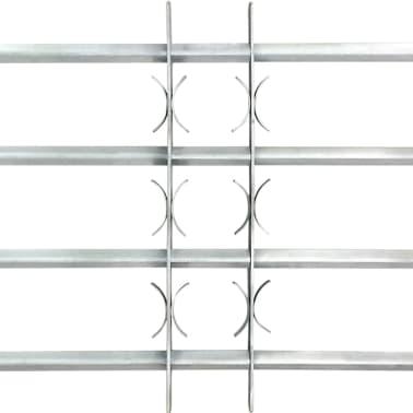 Reguliuojamos Apsauginės Langų Grotos su 4 Skersiniais 700-1050 mm[3/4]