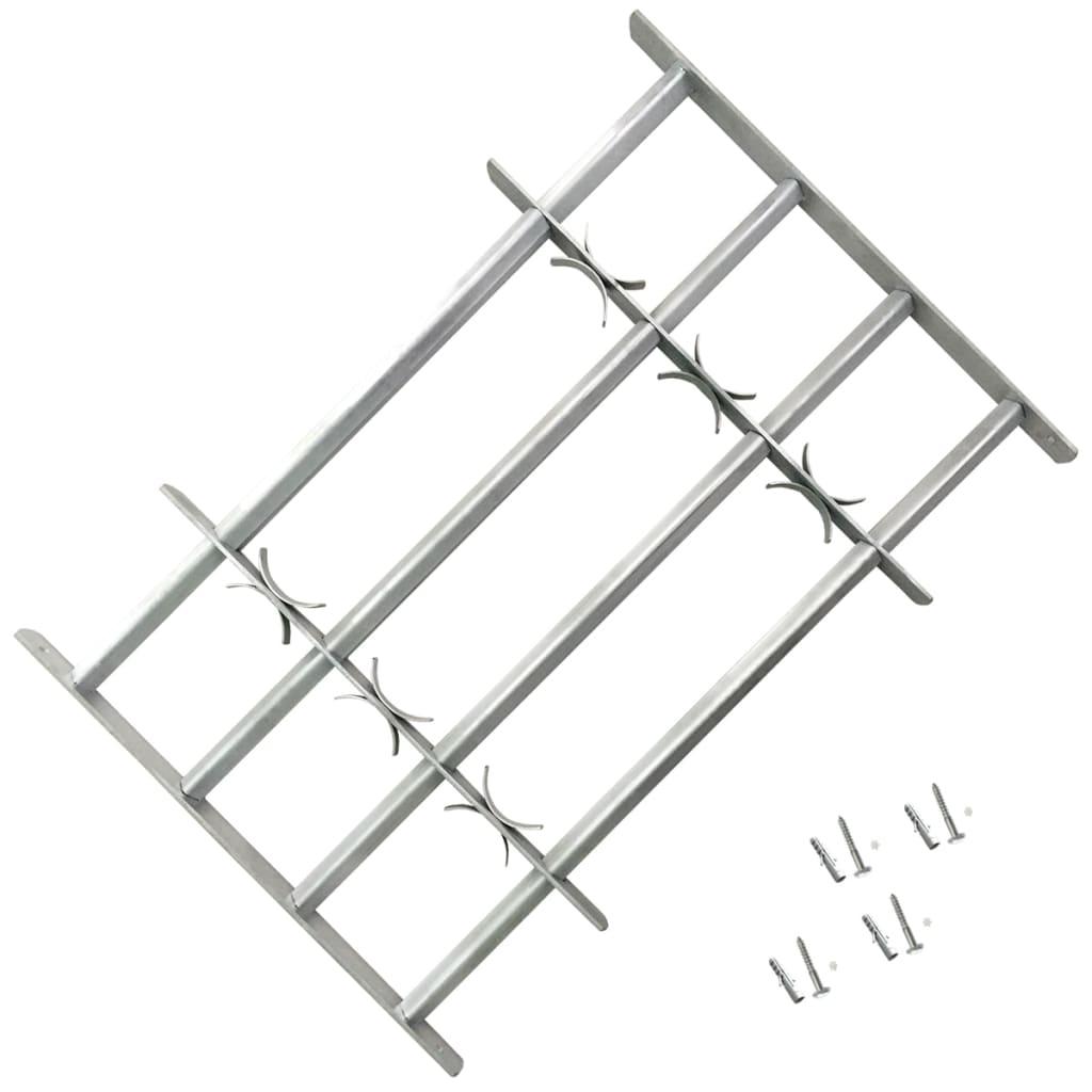 Grilaj de siguranță pentru ferestre cu 4 bare transversale 1000-1500mm vidaxl.ro