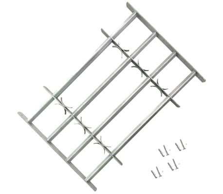 Reguliuojamos Apsauginės Langų Grotos su 4 Skersiniais 1000-1500 mm[1/4]