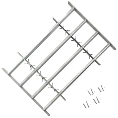 vidaXL Raambeveiliging verstelbaar met 4 dwarsbalken 1000-1500 mm[1/4]
