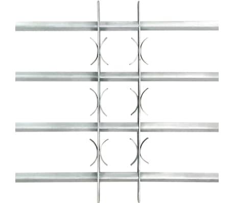 Reguliuojamos Apsauginės Langų Grotos su 4 Skersiniais 1000-1500 mm[3/4]