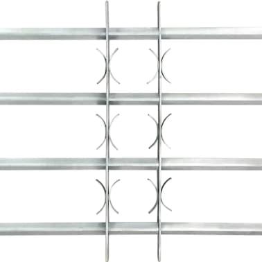 vidaXL Raambeveiliging verstelbaar met 4 dwarsbalken 1000-1500 mm[3/4]