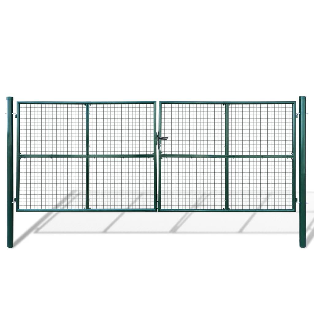 Gard din plasă pentru grădină 415 x 200 cm/400 x 150 cm poza 2021 vidaXL