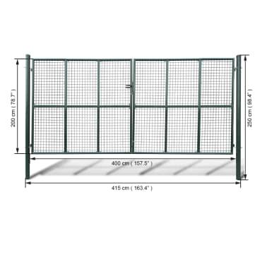 Tinkliniai Kiemo Vartai 415 x 250 cm / 400 x 200 cm[4/4]
