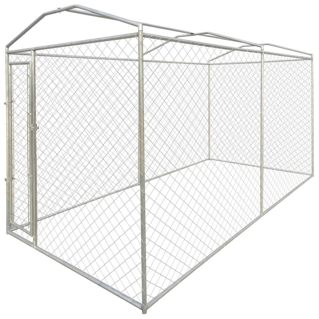 vidaXL Hondenkennel voor buiten met dak 4x2x2,4 m