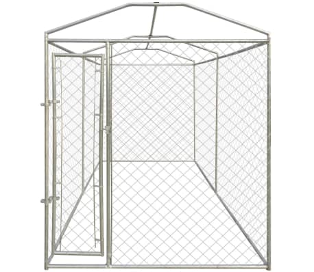 vidaXL Outdoor Dog Kennel with Canopy Top 4x2 m[3/4]