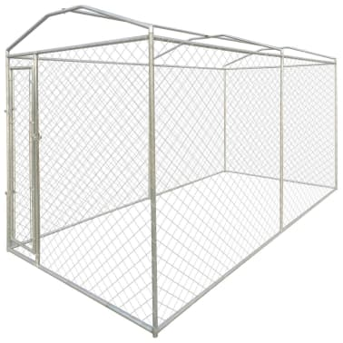 vidaXL Outdoor Dog Kennel with Canopy Top 4x2 m[2/4]