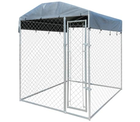 vidaXL Outdoor Dog Kennel with Canopy Top 6'x6'[1/4]