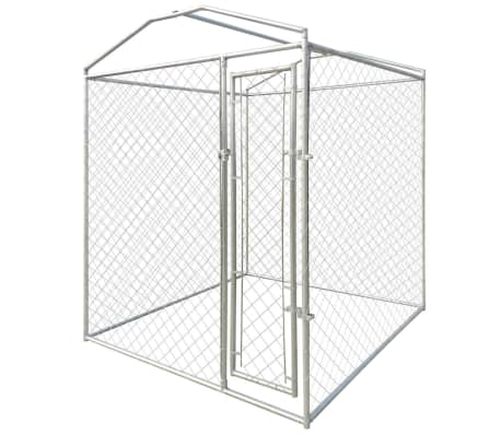 vidaXL Outdoor Dog Kennel with Canopy Top 6'x6'[2/4]