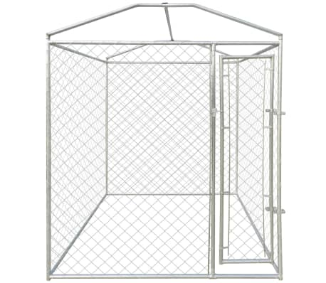 vidaXL Outdoor Dog Kennel with Canopy Top 6'x6'[3/4]