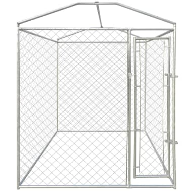 vidaXL Outdoor Dog Kennel with Canopy Top 6