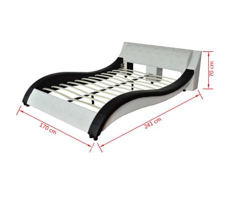 acheter lit en simili cuir vague matelas m moire de forme blanc 140 200cm pas cher. Black Bedroom Furniture Sets. Home Design Ideas