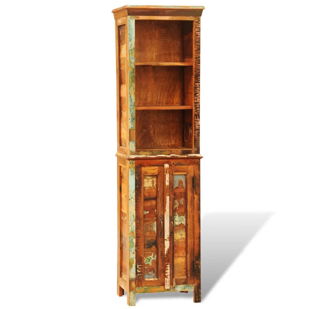 vidaXL Knihovna recyklované masivní dřevo vintage