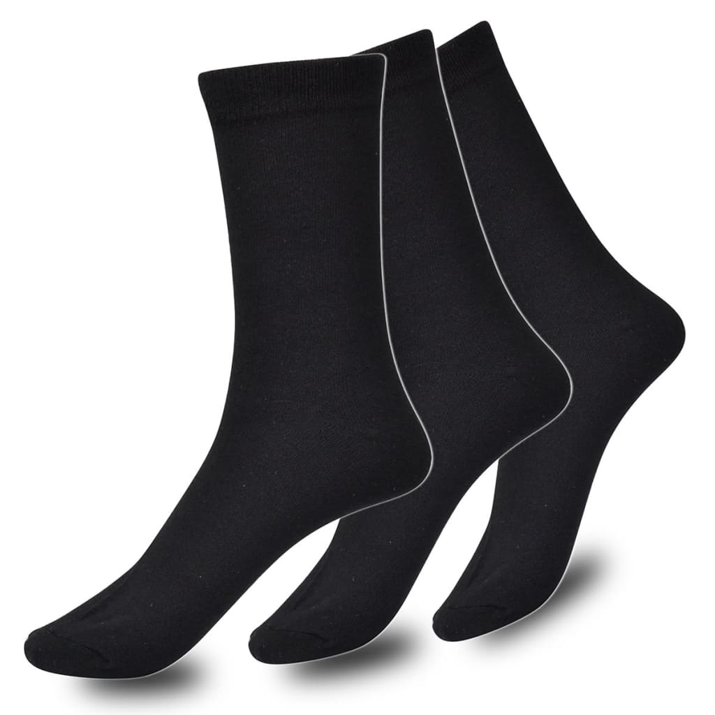 Afbeelding van vidaXL Sokken Man zakelijke stijl 24 paar maat 39-42 (Zwart)