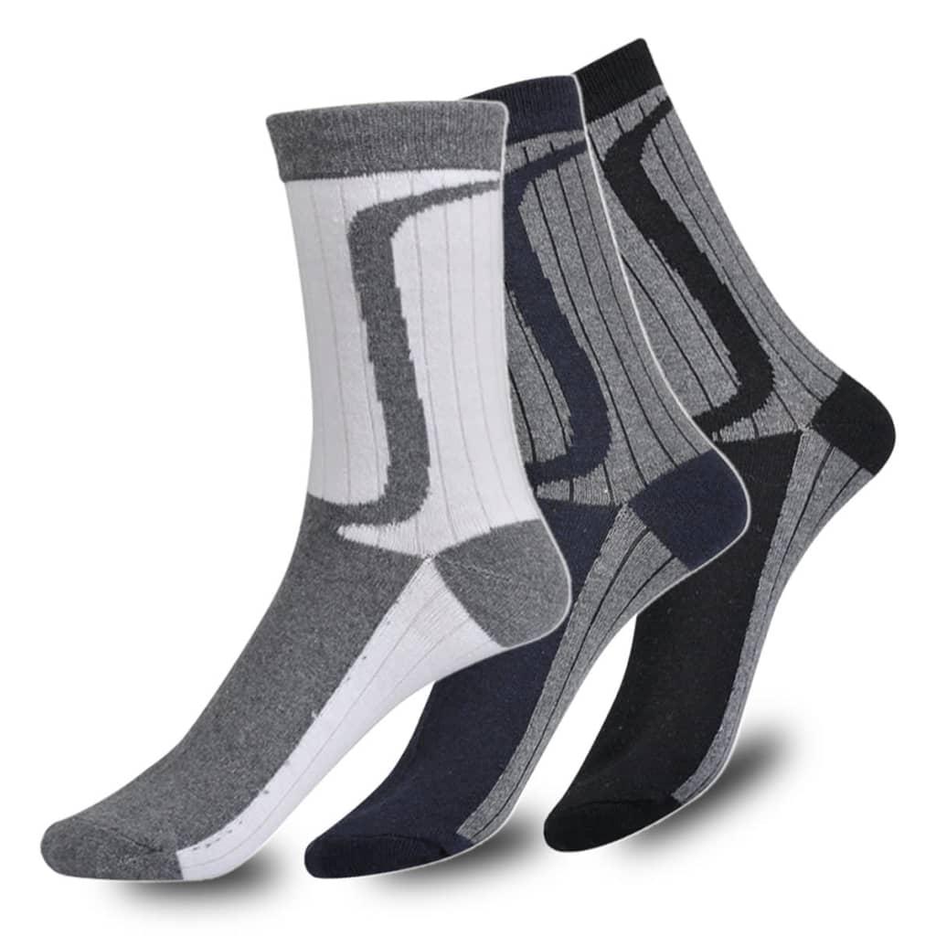 Pánské ponožky dvoubarevné 24 párů - velikost 43-46