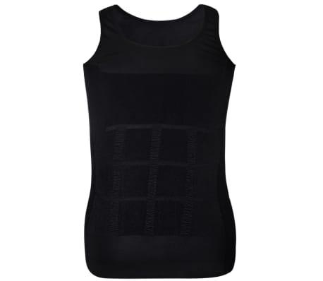 Herren Kompressionskleidung Shapewear 2tlg.Tanktop Weiß/Schwarz Gr.XXL[7/9]