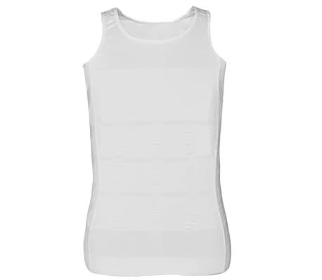 Herren Kompressionskleidung Shapewear 2tlg.Tanktop Weiß/Schwarz Gr.XXL[8/9]