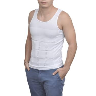 Herren Kompressionskleidung Shapewear 2tlg.Tanktop Weiß/Schwarz Gr.XXL[2/9]