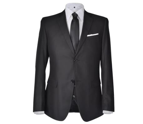 Costum business bărbați trei piese, mărimea 46, negru[2/10]