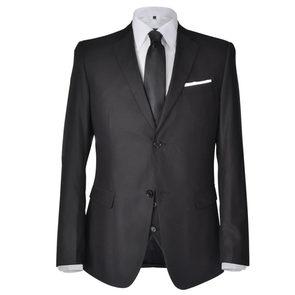 Třídílný pánský business oblek, vel. 50, černý