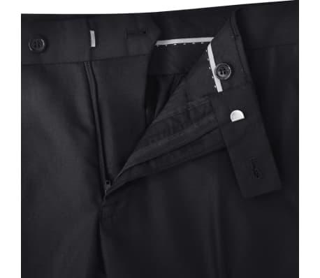 Business Anzug für Herren 3-teilig Schwarz Gr. 50[6/10]