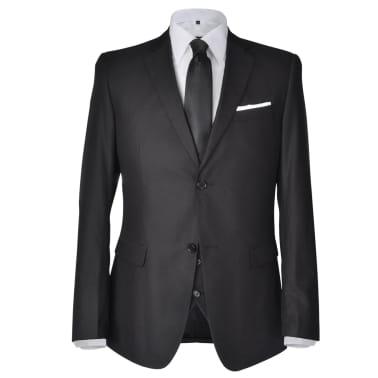 Business Anzug für Herren 3-teilig Schwarz Gr. 50[2/10]