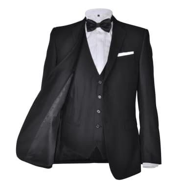 Business Anzug für Herren 3-teilig Schwarz Gr. 50[3/10]