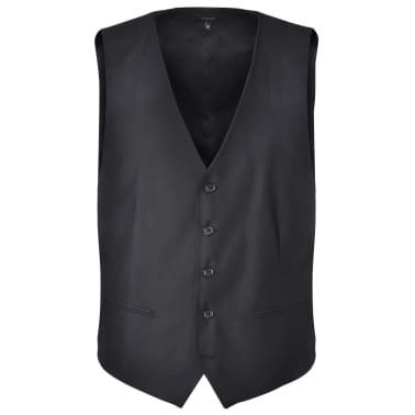 Business Anzug für Herren 3-teilig Schwarz Gr. 50[4/10]