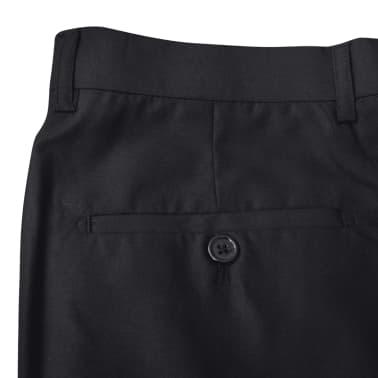 Business Anzug für Herren 3-teilig Schwarz Gr. 50[5/10]